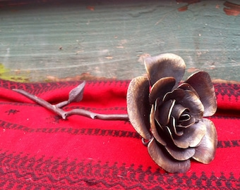 Iron Forged Rose, 6th Anniversary Gift, Metal Rose, Rose, Iron Anniversary, 6th Anniversary, Valentine, Girlfriend Gift, Metal Flower