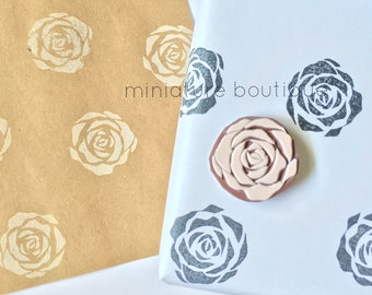 Rose stamp - Flower stamp - Nature Stamp - Valentines Day Stamp - hand carved stamp - rubber stamp - Stamp