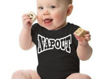 NAPOUT onesie makes a perfect baby gift! UFC Fans! Customize for the perfect gift!