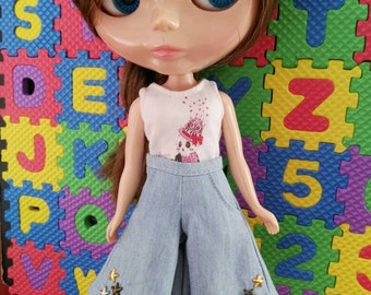 Blythe Doll Outfit Clothing Light Blue pants