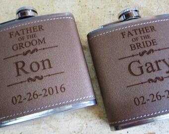 Groomsmen Gift, Groomsmen Gifts - 13 Personalized Leather Flasks