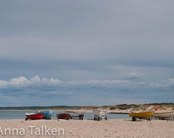 Boats in Liseleje Denmark, Photograph