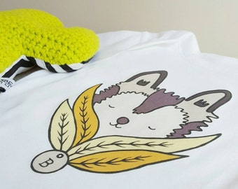 Peekaboo Husky - Personalised Organic Baby Clothing - Gift Dog