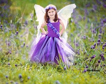 Flower girl dress - Tulle flower girl dress - Tulle dress- Purple Tutu Dress- Infant/Toddler - Pageant dress - tutu dress - Princess dress