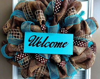 Nuetral Everyday Deco Mesh Wreath