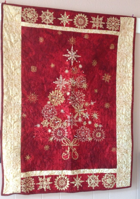 Wall Hanging Christmas Tree With Lights : Lighted Christmas Tree Wall Hanging by sweetvirginiasquilts