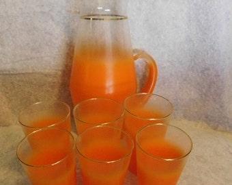 West Virginia Blendo Orange Frosted Glass