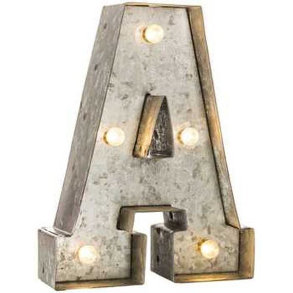 galvanized metal marquee lighted letter by detaildecor on etsy With galvanized letters with lights