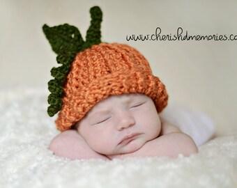 Crochet Pumpkin Hat - Newborn, Toddler, Child, Adult, Boy/Girl, Photo Prop, Halloween, Fall, Made to Order