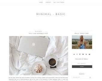 LAST 24H!!! Minimalist Premade Blogger Template Design / Minimalist Blogger Template / Minimal Blogger Template / Mobile Friendly / Blogger
