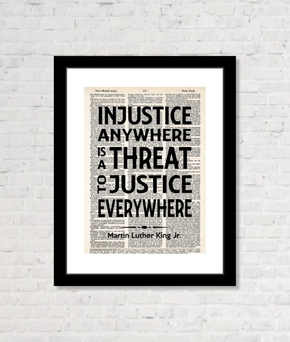 Injustice Quotes: Martin Luther King Jr Quote Injustice Anywhere Is A Threat