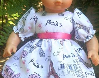 "15"" Baby Doll Clothes American Made - Paris Sparkle Eiffel Tower Ooh La La"