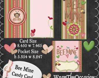 Bee Mine Candy Card