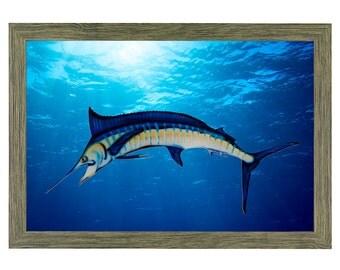 Blue Marlin Painting Fishing Gifts