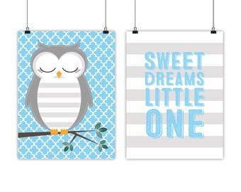 Nursery art print, owl nursery quote, owl nursery decor, owl nursery art, little boys nursery art, kids woodland nursery, digital prints