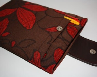Brown with red leaves MacBook Air 13 sleeve  MacBook Air 13 Sleeve, MacBook Pro 13 case, MacBook Air 13 Cover, MacBook Pro 13