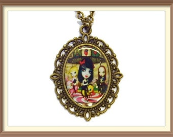 Jack Off Jill Inspired Album Cover Cameo Necklace / Mark Ryden