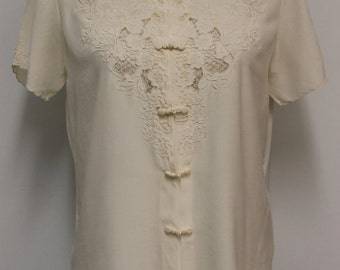 SALE 30% OFF COMING Soon Embroidered silk shirt