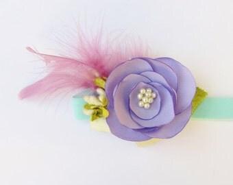 Great Gatsby Inspired VIBRANT Flower Headband