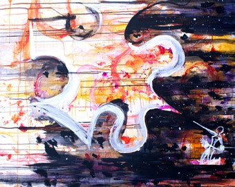 Out Of Hands | Original Acrylic Painting on wood by Jim Chelius