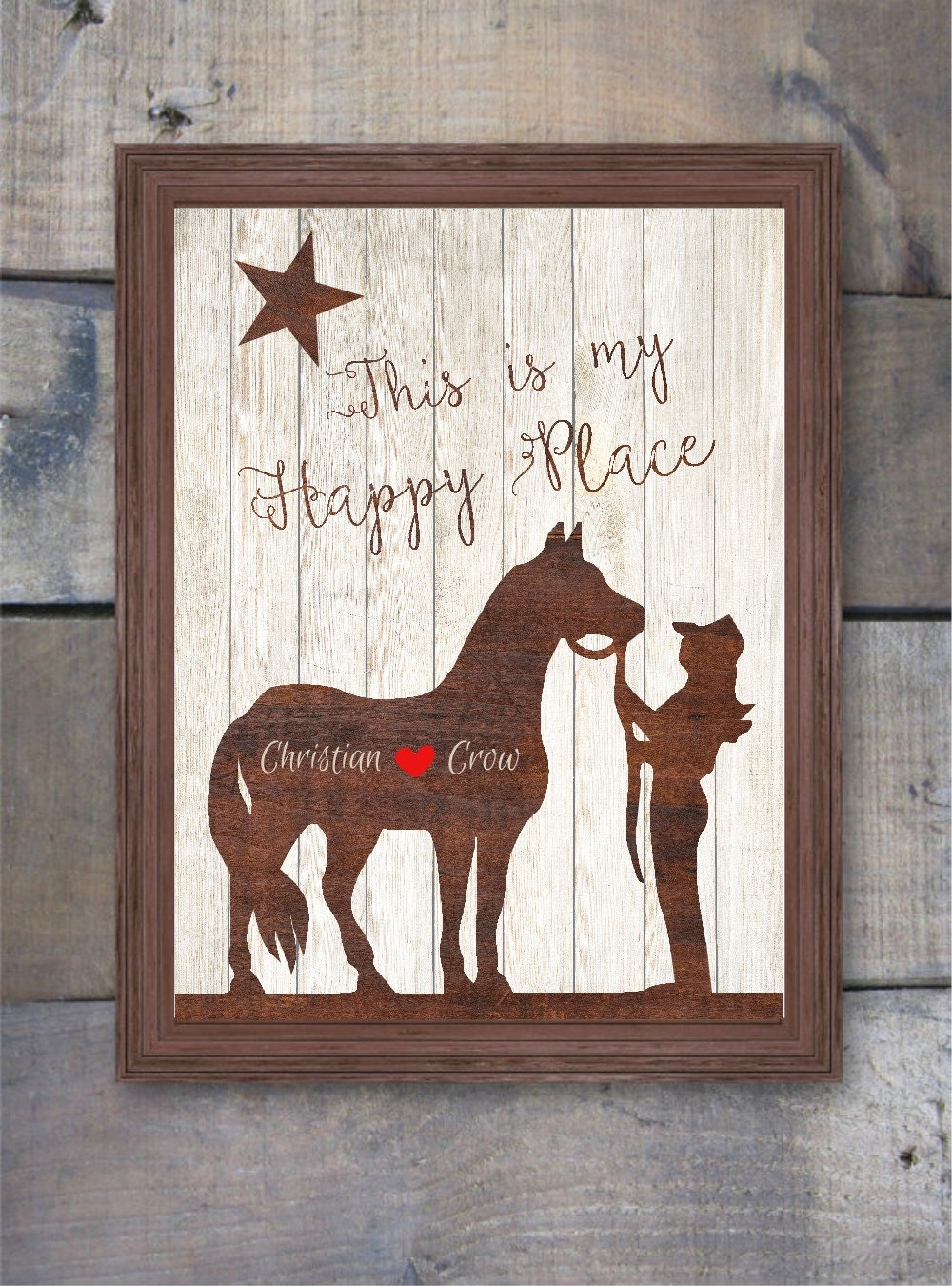 western home decor and gifts western print personalized western gift western decor 13092
