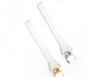 SWEETNSWAG BINKIE CLIP in Simply White