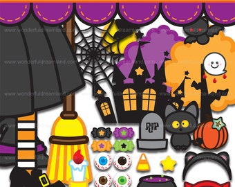 Halloween 3 - PNG SVG EPS Vector Instant Download Printable Cliparts Clip Arts Digital File Scrapbook Kit