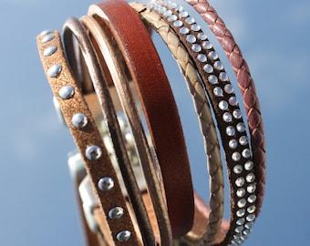 Leather Bracelet, multirow
