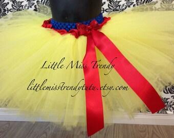 Snow white tutu skirt, Snow White tutu costume, Yellow tutu skirt, Princess tutu skirt, Snow White Tutu