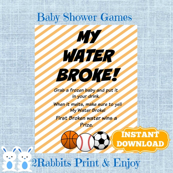 baby game sports baby shower ice cube baby shower drink shower drink
