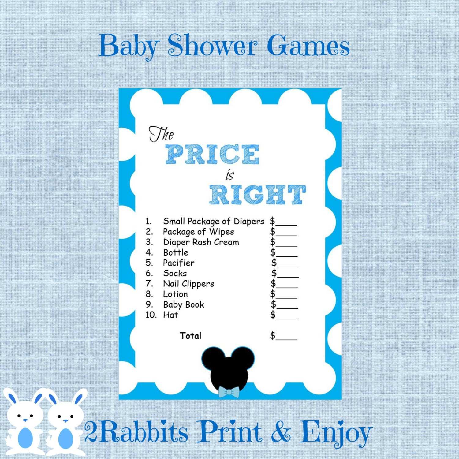Mickey Mouse Baby Shower Games