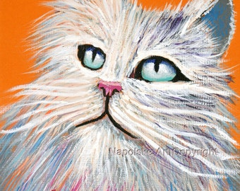 "Fine Art Print  ""Fluffy""   Print by Napolske Art Painting"