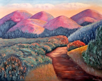 "Fine Art Print  ""Nature's Path""   Print by Napolske Art Painting"
