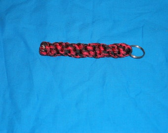 Red/Black Paracord Key Chain