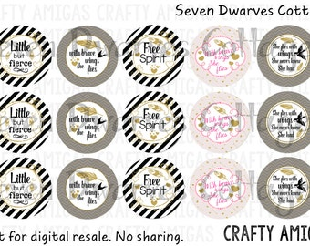 Golden feathers inspirational quotes one 1 inch bottle cap image, bci, digital collage sheet, instant download little but fierce free spirit