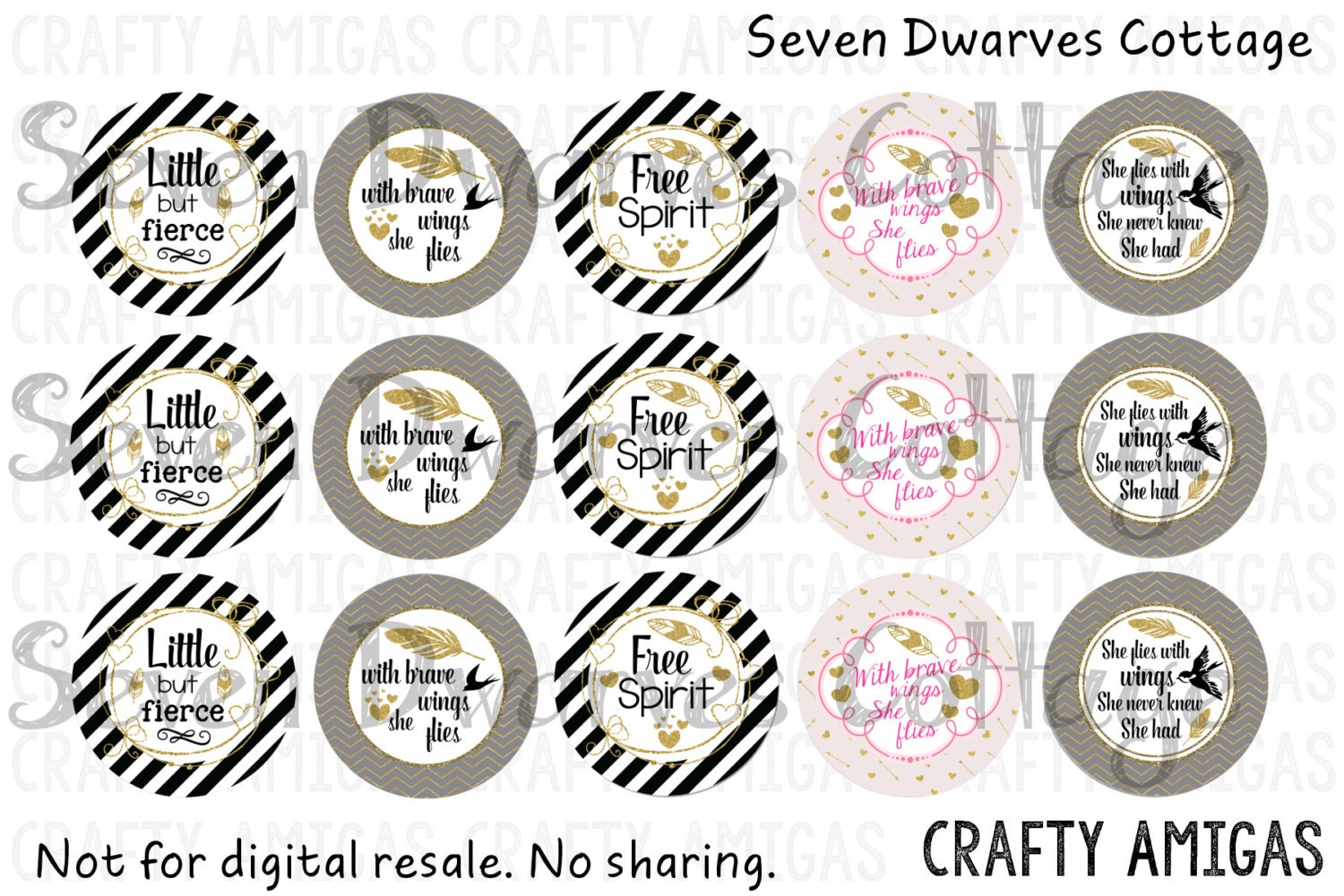 Golden Feathers Inspirational Quotes One 1 Inch Bottle Cap