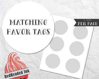 Matching Party Favor Tags