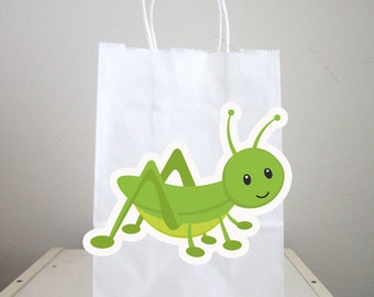 Bug Goody Bags, Grasshopper Goody Bags, Grasshopper Favor Bags, Grasshopper Gift Bags, Grasshopper Party Bags