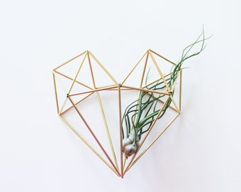 Brass mobiles wall sconces plant inspired pins by hemleva for Geometric air plant holder