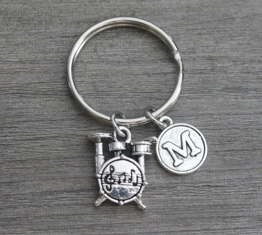 drummer keychain drummer key chain drums charm by madiescharms. Black Bedroom Furniture Sets. Home Design Ideas