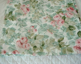 """Vintage Laura Ashley Valance Pink Rose Self-Lined 18"""" Long 168"""" Wide Shabby Cottage Chic"""
