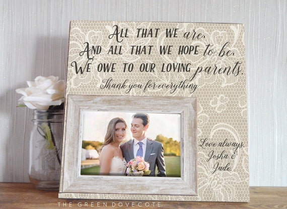 Wedding Gift For Mother Of The Bride And Groom : Mother Of The Bride Gift Wedding Frame Mother Of The Groom