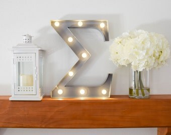 "Sorority Marquee Letter Light ""Sigma"" // Lighted Initials // Sorority Gifts"