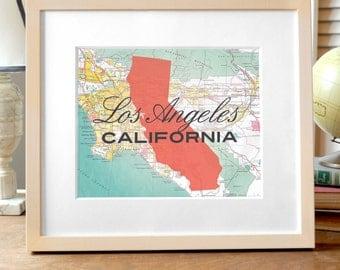 LA Print, California Print, Los Angeles Print, Los Angeles California Print, California State Print, State Print