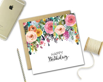 Birthday Card {FALLING BLOOMS}