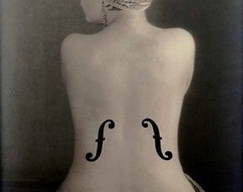 Le Violin D'ingres 1924 Surreal B&W Photo By Man Ray A3 Poster Reprint