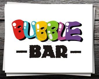 Bubble Bar, Card, Shirt Decal, Cricut file, Silhouette file