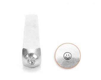 Smiley Face Design Metal Stamp 3mm Jewelry Steel Punch Impressart Happy Face Metal Stamp, Steel Stamp