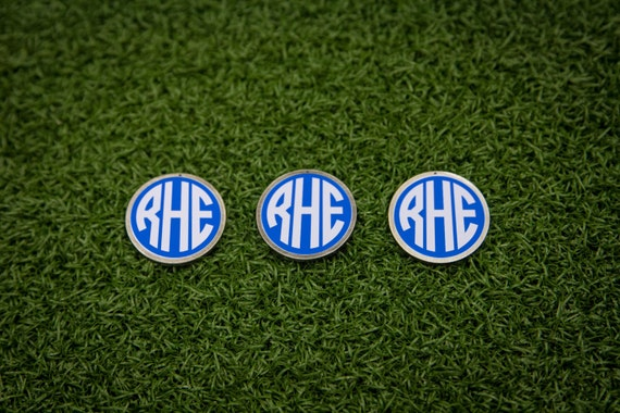 custom monogram golf ball marker set
