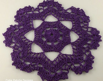 """Free Shipping! 8"""" Purple Octagon Doily / Stock# S-139D"""